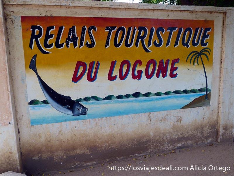 "cartel de nuestro alojamiento ""relais touristique du logone"""