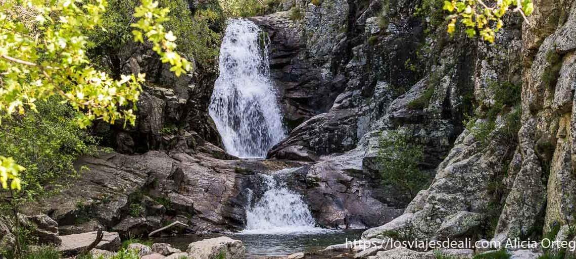 ruta de 1 día en el valle del lozoya cascada del purgatorio