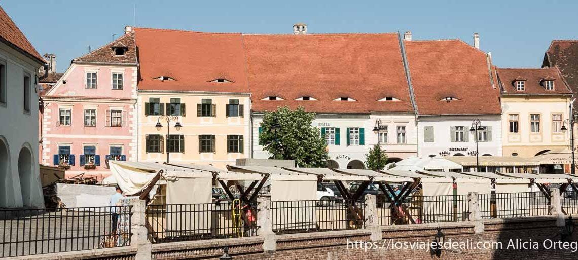 plaza de sibiu en transilvania