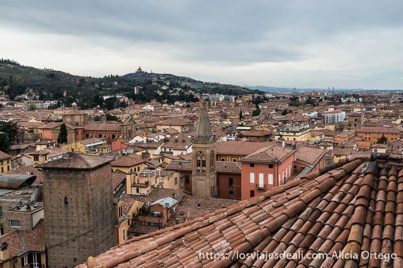 vistas e los tejados de Bolonia desde la terraza de san petronio